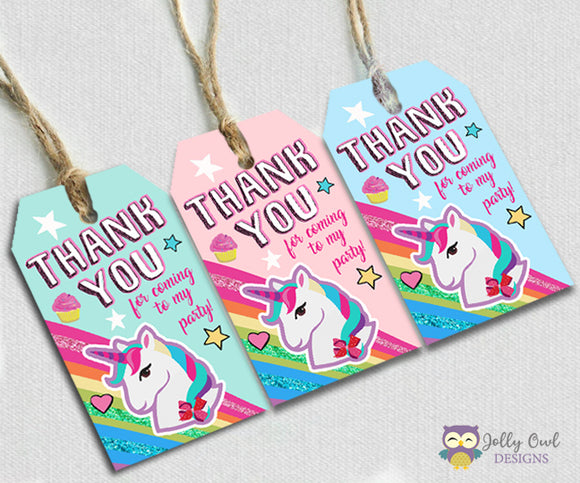 Jojo Siwa Party Favor Thank You Tag