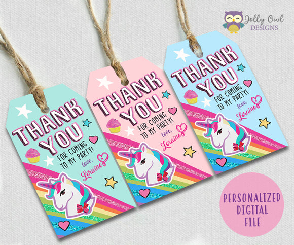 Jojo Siwa Favor Thank You Tag Personalized