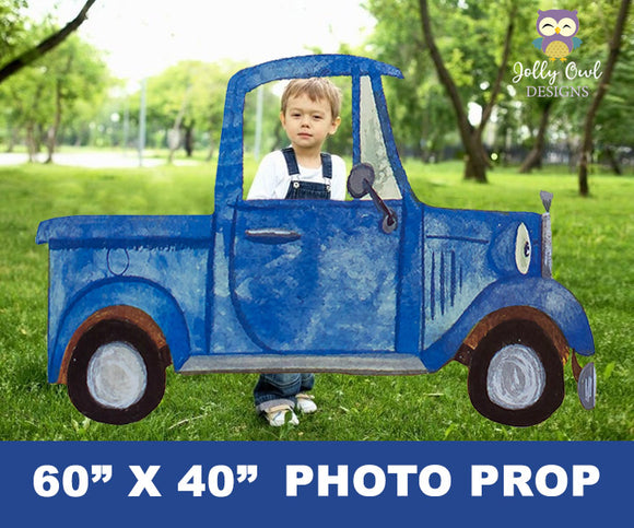 Little Blue Truck Party Photo Prop Large Cutout