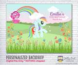 My Little Pony Unicorn Birthday Party Backdrop