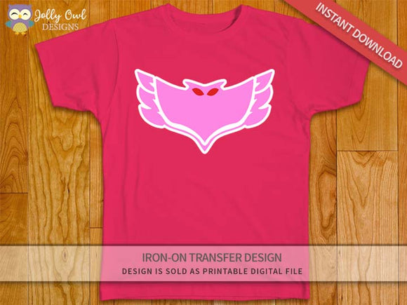 PJ MASKS OWLETTE Logo Iron On Transfer Design