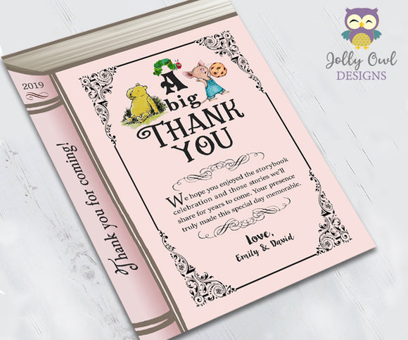 Storybook Theme Printable Thank You Card