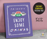 FRIENDS TV Party Signs Bundle Set for Birthday Party