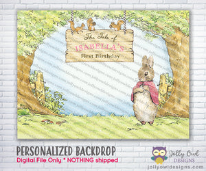 Flopsy Bunny Party Backdrop