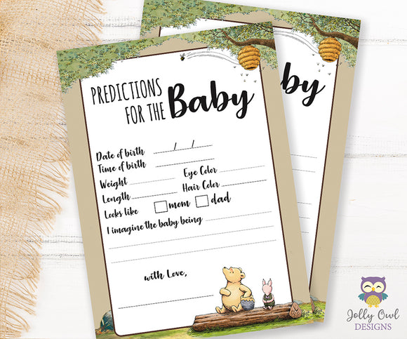 Winnie The Pooh Baby Shower Game Predictions For Baby
