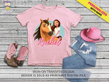 Spirit Riding Free Iron On Transfer Shirt Design / Personalized / Spirit and Lucky