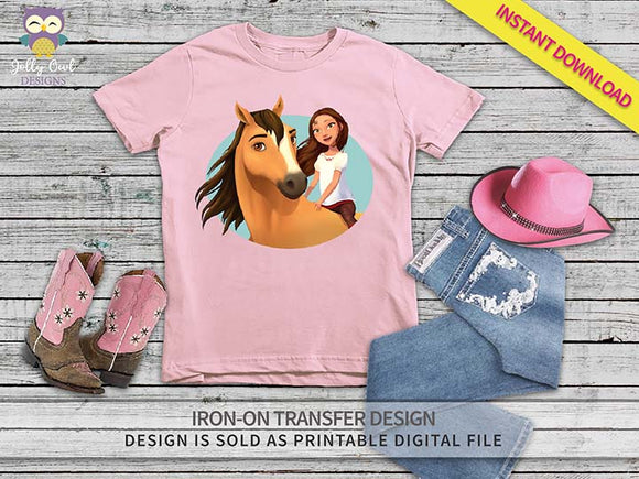 Spirit Riding Free Iron On Transfer Shirt Design Spirit and Lucky