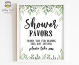 Botanical Greenery Baby Shower Party Sign - Favors Sign, Please Take One