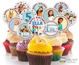 Spirit Riding Free Cupcake Toppers  -  Personalized Birthday Party Circles