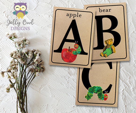 ABC Alphabet Banner Flashcards | Storybook Book Themed | 5x7 Cards | Downloadable Digital PDF File