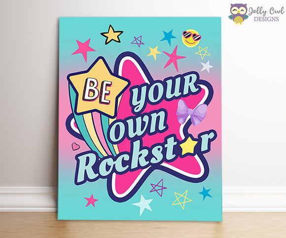 Jojo Siwa Party Signs - Be Your Own Rockstar