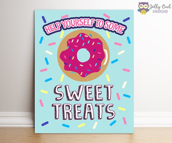 Jojo Siwa Party Signs - Sweet Treats