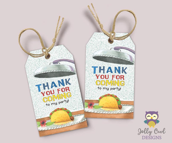 Dragons Love Tacos Thank You Tag - Favor Tag