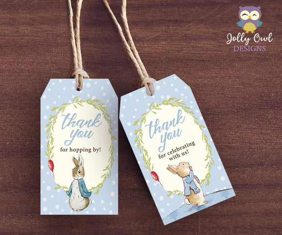 Peter Rabbit Party Favor Tag - Thank You Tag