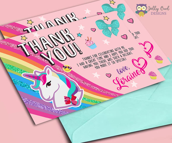 Jojo Siwa Printable Thank You Card