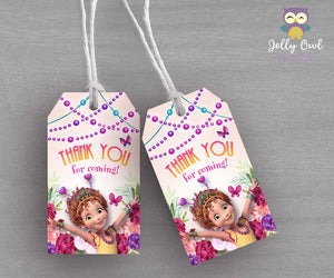 Fancy Nancy Party Thank You Tag - Favor Tag