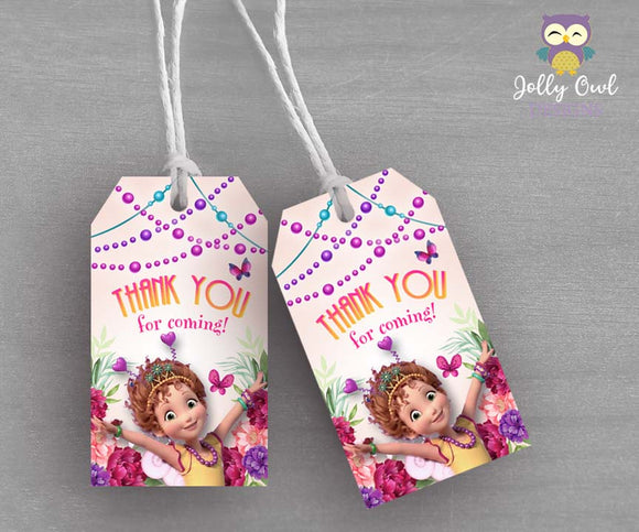 Fancy Nancy Party Thank You Tag - Favor Tag - Jolly Owl Designs