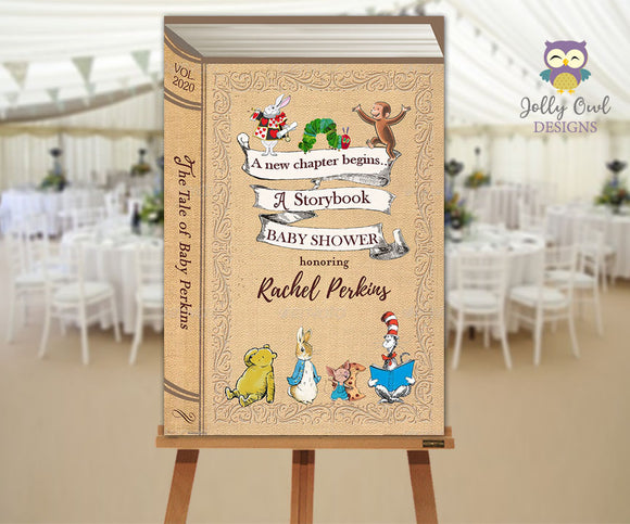 Storybook Themed Baby Shower Welcome Sign