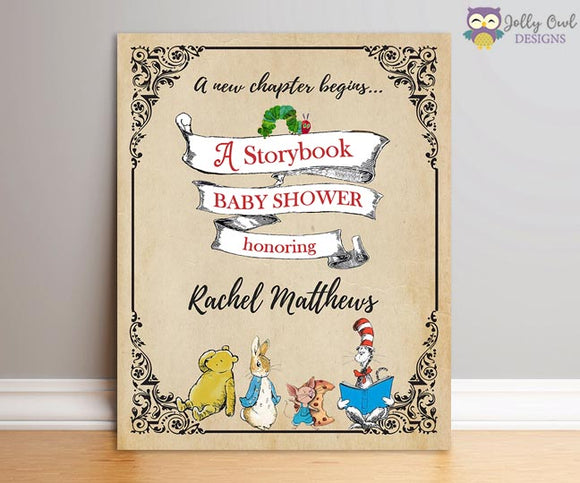 Storybook Party Welcome Sign Personalized