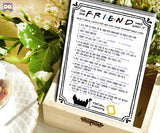 Friends TV Show Bridal Shower Game - The One Friend Who Said It