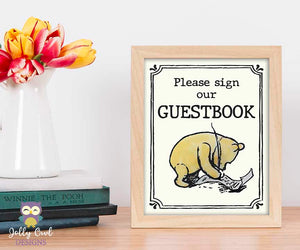 Winnie The Pooh Party Signs - Sign Our Guestbook