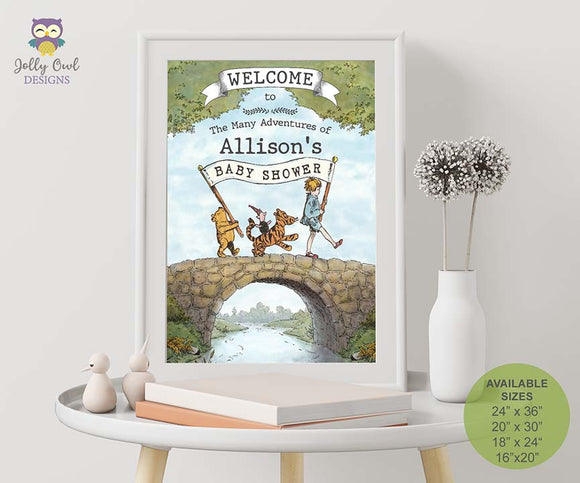 Winnie The Pooh Baby Shower Printable Welcome Sign