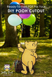 Digital Party Prop Standee Cutout - Classic Winnie The Pooh (Balloon Not Included)