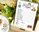 Book Themed Baby Shower Games Bundle Set