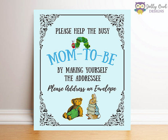 Book Themed Baby Shower - Mom to Be Addressee