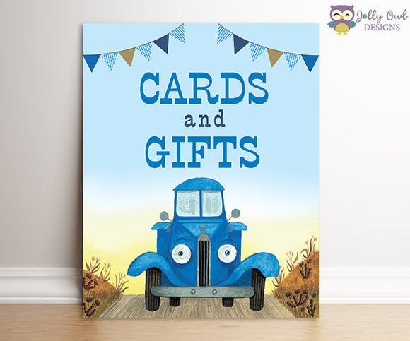 Little Blue Truck Birthday Party Signs - Cards and Gifts