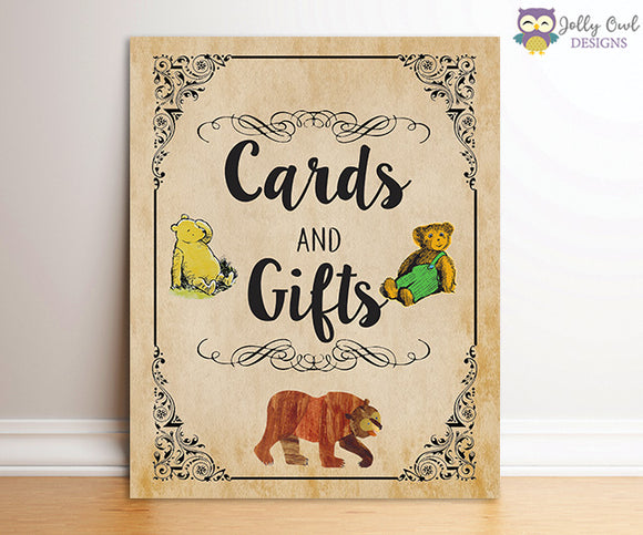 Book Themed Baby Shower Party Sign - Cards and Gifts