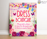 Fancy Nancy Party Signs Bundle Set