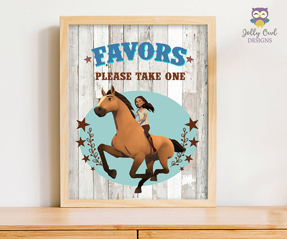 Spirit Riding Free Party Signs - Party Favors