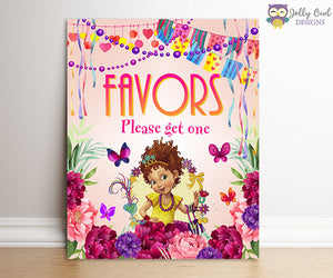 Fancy Nancy Birthday Party Signs - Party Favors