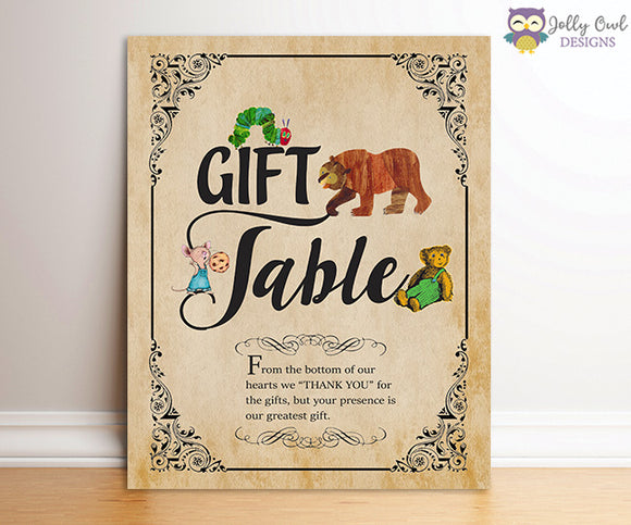 Book Themed Baby Shower Party Sign - Gift Table
