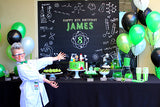 Mad Science Birthday Party Backdrop
