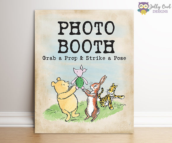 Winnie The Pooh Party Sign - Photobooth
