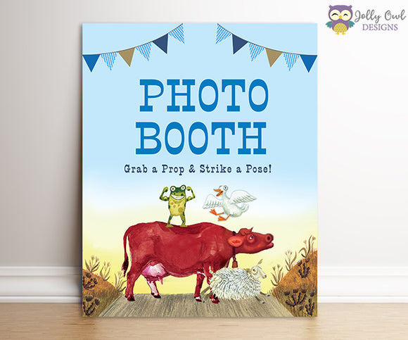 Little Blue Truck Birthday Party Sign - Photobooth