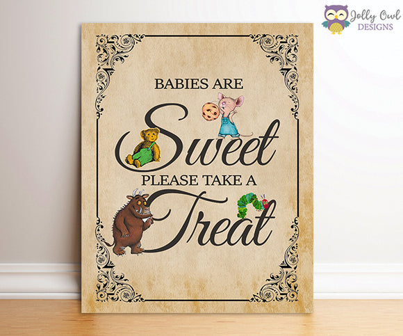 Book Themed Baby Shower Party Sign - Sweet Treats