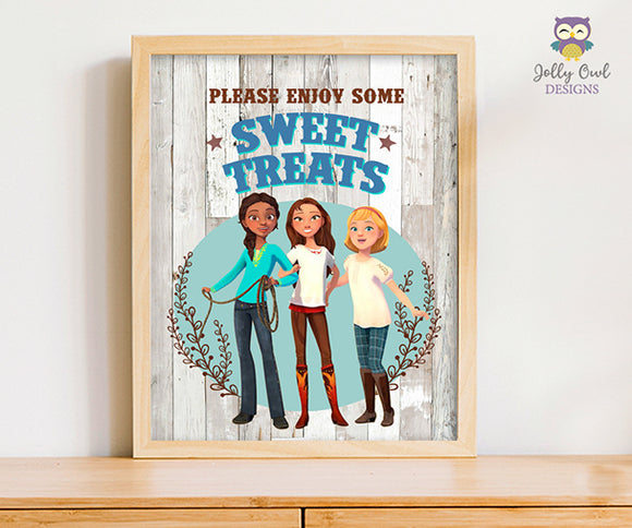 Spirit Riding Free Birthday Party Sign - Sweet Treats