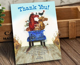 Little Blue Truck Birthday Party Invitation with Thank You Card