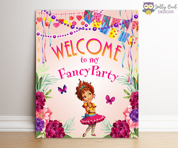 Fancy Nancy Birthday Party Signs - Welcome To My Fancy Party
