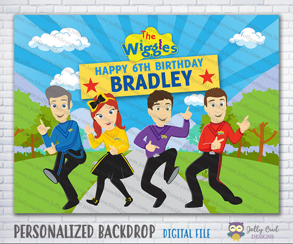 The Wiggles Show Birthday Party Backdrop
