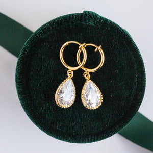 Clip on Vintage Teardrop Earrings