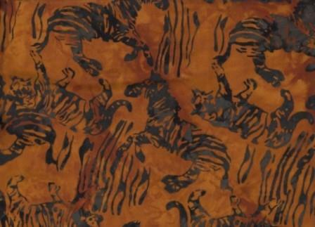CAWBN CB 522 Africa Brown Animal Scatter Anthology Batiks