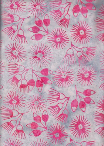 BAAL 781  Aussie Landscape Gum Blossoms and Pods Hot Pink Grey Limited Edition