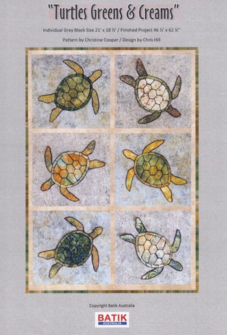 BA Pattern Batik Australia Turtles and Cream Quilt Pattern