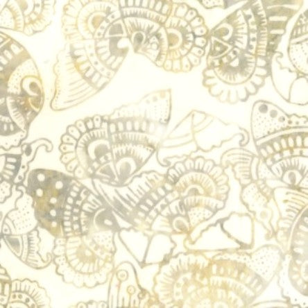 CACB 401  Tan Butterfly Wings Anthology Batik