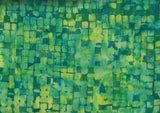 CAG 071 Green Squares Anthology Batiks