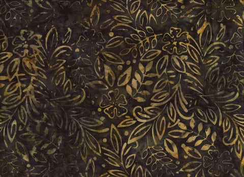 CAG 159 Dark Green Yellow Tan Leaf Print